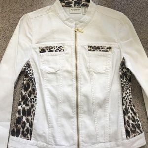 White Animal Print Jacket